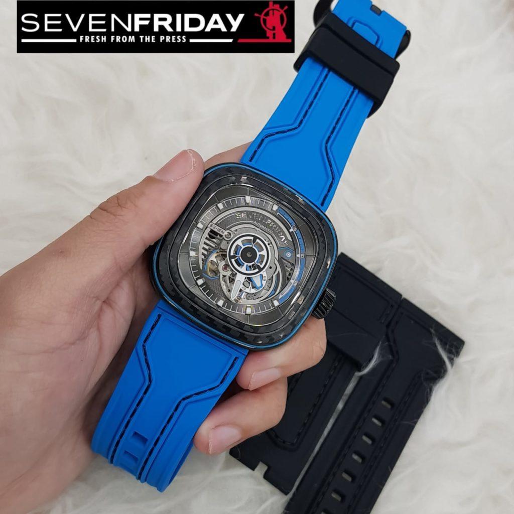 Merk Jam Tangan Terkenal SEVENFRIDAY automatic, strap rubber