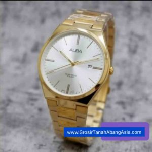 jam tangan alba pria water resistant 5 atm